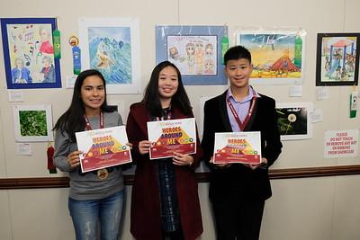 3 Council winners from SMHS Rakel Ang, Eleanor Liu and Michael Wang
