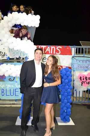 DSC_ Freshman Princess Alyson Garcia with her dad Tony 0818