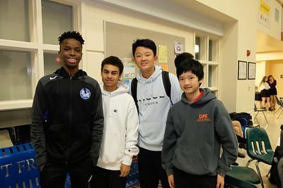 3 Michael Azinge, Cameron Richardson, Ethan Chan and Jacob Wang