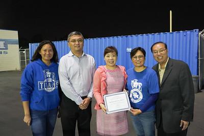 Connie Pham, George Yang, Tiffany Xu, Emily Wong and Raymond Cheng