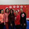 Lunar New Year co-chairs Elsa Zong, Tina Wong, Loretta Wan and Jasmine Huang flank Valentine PTA President Zarana Patel