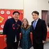 David Wang, Principal Colleen Shields and San Marino Mayor Dr. Steven Huang