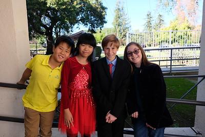 2 Terry Zhang, Jocelyn Hsieh, Grant Walker and Chloe Souza