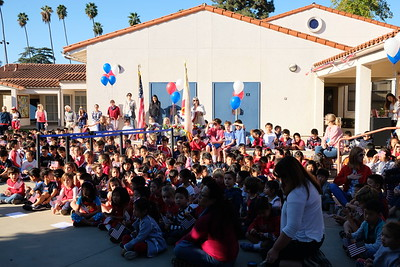 1 Principal Colleen Shields welcomes students, families and veterans