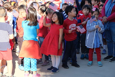 10 Josepine Zhao sings God Bless America with her classmates