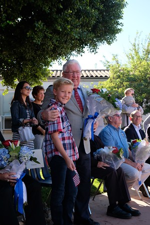 22 Veteran Bob Mason with grandson Turner Dawes
