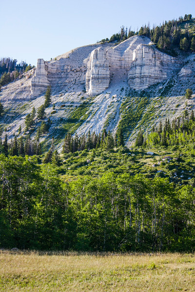 Limestone exposures in the Wasatch Range between Wrigley Lake and Spinners Reservoir
