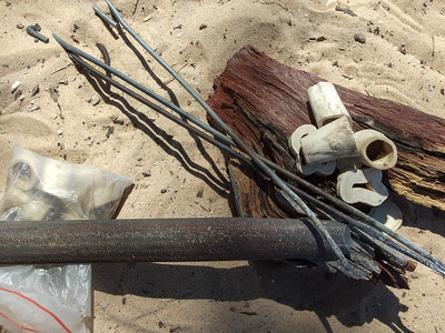 San Bushmen Artists, Tools of the trade. Bone to be formed and burnt with art imagery