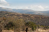uMgungundlovu, King Dingaan's Royal Kraal in the distance, barb wire fence in foreground, ,KwaZulu-Natal