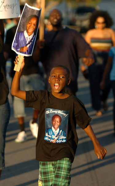 About 200 people march for Amarion Adams.