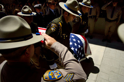 Funeral Serivce For CHP Officer Justin McGrory