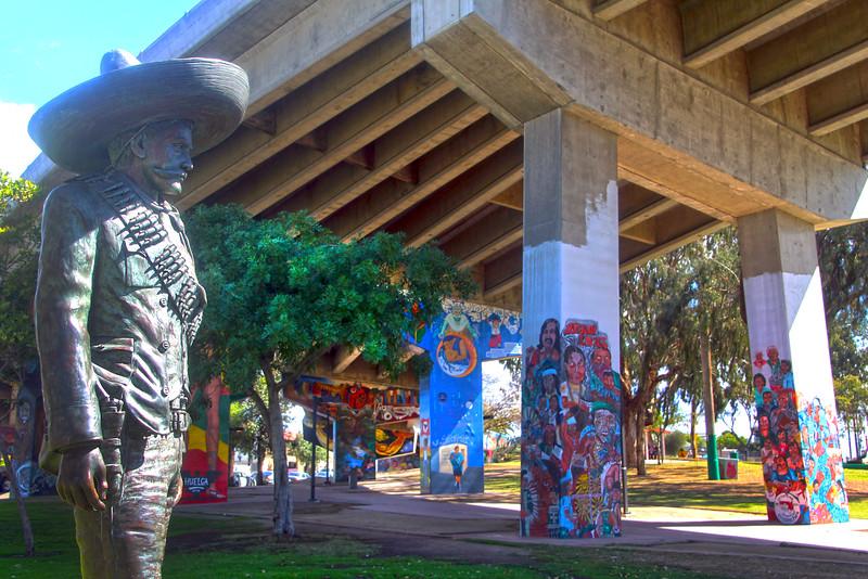 Barrio Logan San Diego, Pancho Villa Bronze Statue
