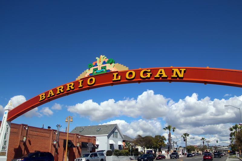 Barrio Logan, San Diego, Neighborhood Sign