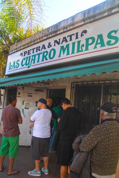 Barrio Logan San Diego, Las Cuatro Milpas Restaurant, portrait view