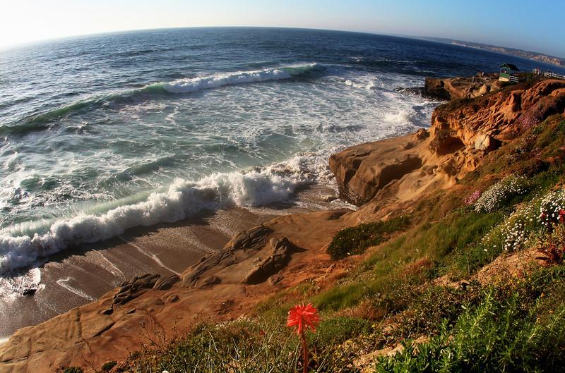 San Diego Beaches, La Jolla Cliffs in Spring