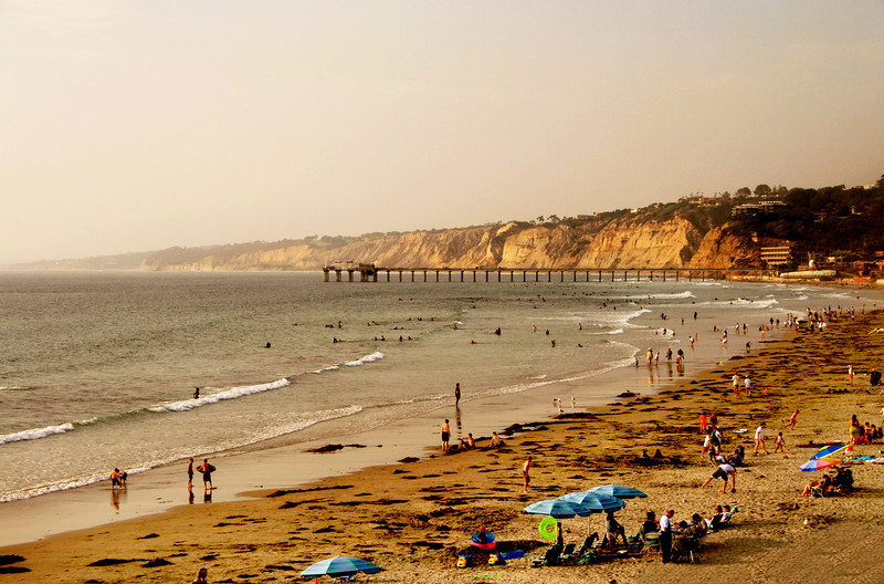 San Diego Beaches, Dusk Over La Jolla Shores