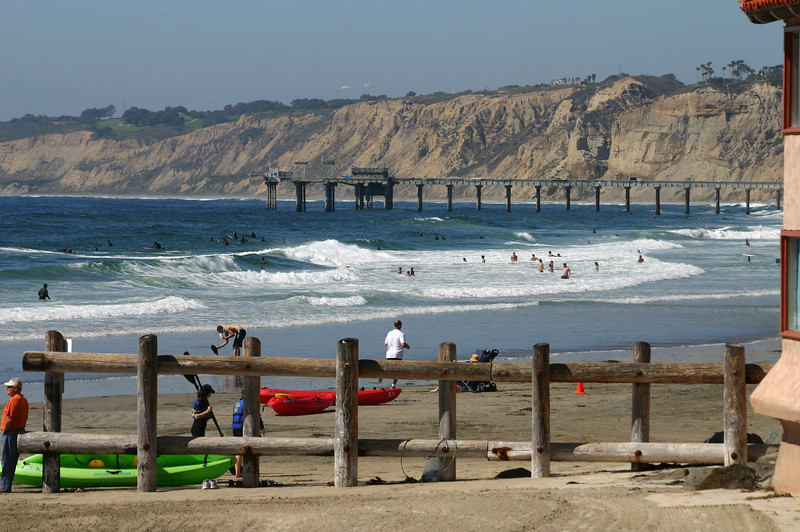 San Diego Beaches, Fun in Surf at La Jolla Shores