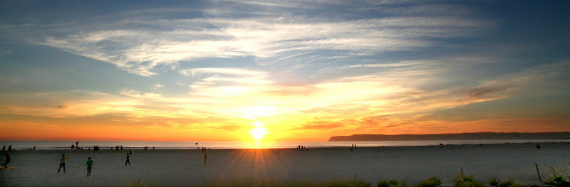 San Diego Beaches, Coronado Island at Sunset
