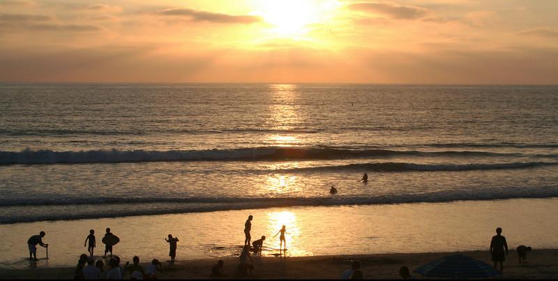 San Diego Beaches, Del Mar Beach at Sunset