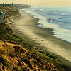San Diego Beaches, South Carlsbad at Sunset