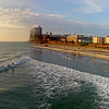 San Diego, Pacific Beach Panorama from Crystal Pier