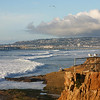 San Diego Beaches, View from Sunset Cliffs towards Ocean Beach