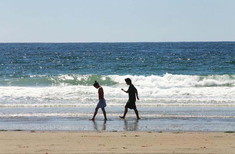 San Diego Beaches, Strollers in Silouhette