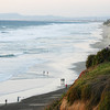 San Diego Beaches, Encinitas Beach Walk at Twilight