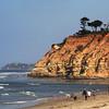 San Diego Beaches, Walkers on Del Mar Beach