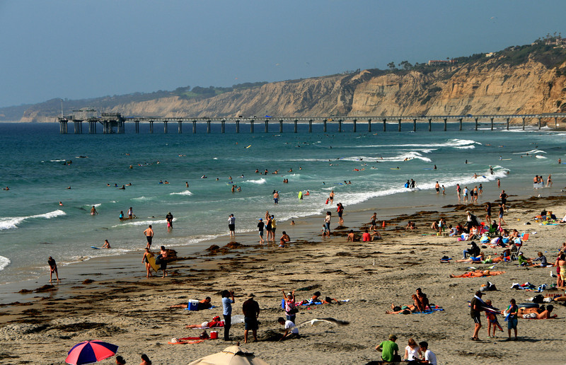 San Diego Beaches, Scripps Pier and La Jolla Shores