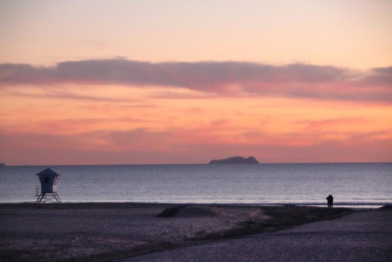 San Diego Beaches, Romantic Sunset on Beach