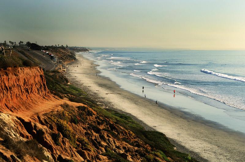 San Diego Beaches, South Carlsbad Beach & Cliffs