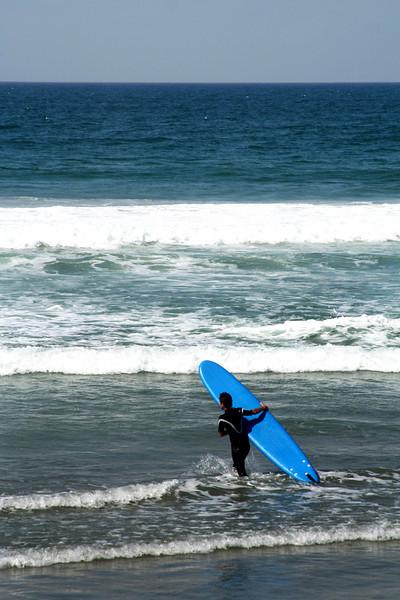 San Diego Beaches, Blue Surfboard