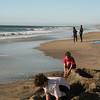San Diego Beaches, Kids Building Sandcastle, Carlsbad Beach