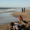 San Diego Beaches, Kids Building Sandcastle, Carlsbad Beach