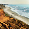 San Diego Beaches, Carlsbad Beach South at Dusk
