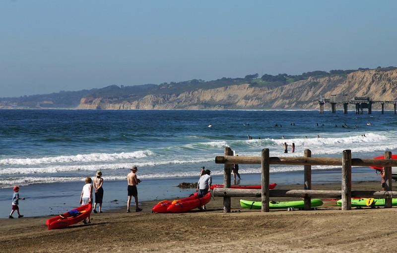 San Diego Beaches, La Jolla Shores with Kayaks
