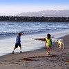 San Diego Beaches, Family with Dog