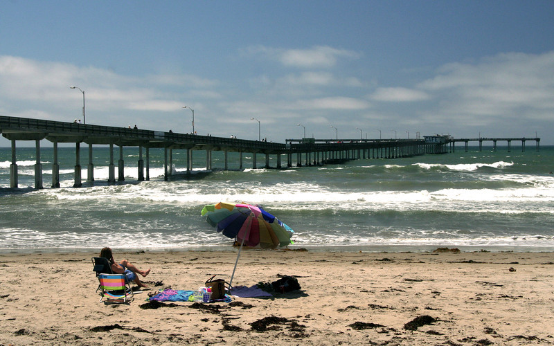 Ocean Beach, Pier with Umbrella