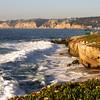 San Diego Beaches, La Jolla Shoreline at Dusk