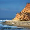 San Diego Beaches, Del Mar Beach Ladies Walking Dogs