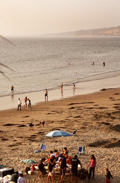 San Diego Beaches, Sunset Picnic at La Jolla Shores