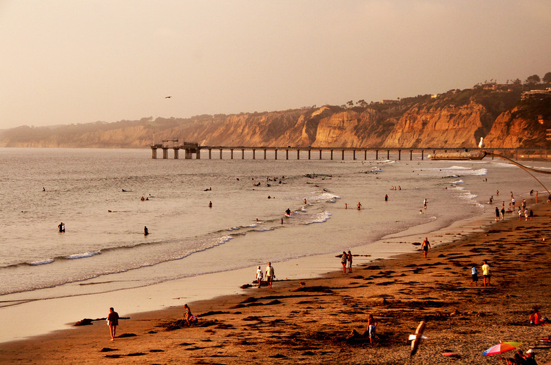 San Diego Beaches, Scripps Pier at Sunset