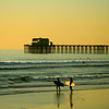 San Diego Beaches, Surfers on Oceanside Beach
