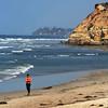 San Diego Beaches, Runner on Del Mar Beach
