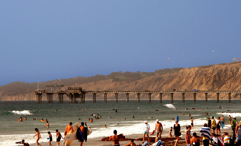 San Diego Beaches, Scripps Pier Late Afternoon