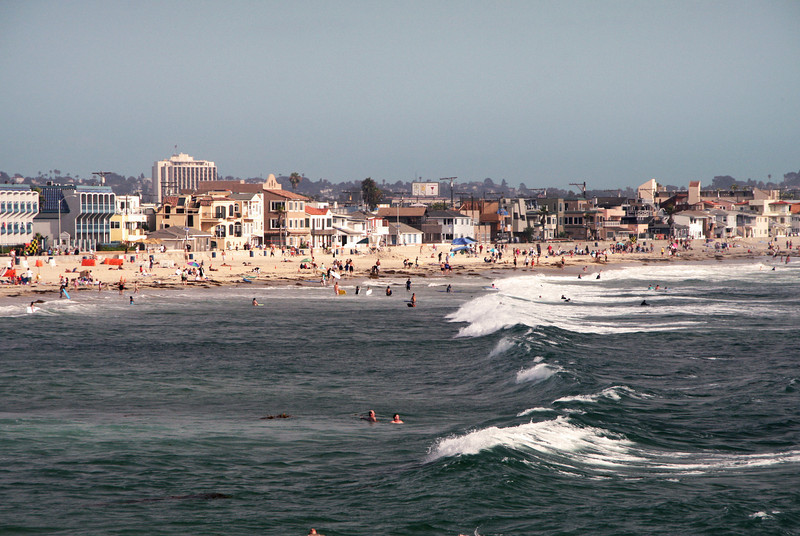 San Diego Beaches, Pacific Beach from Crystal Pier