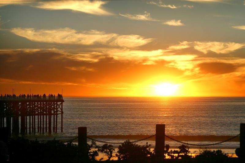 San Diego Beaches, Sunset in Pacific Beach