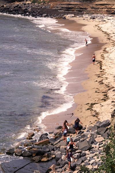 San Diego Beaches, Climbing Over Rocks, Sunset Cliffs Beach