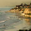 San Diego Beaches, View on Carlsbad Beach